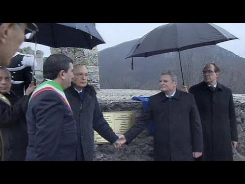 German and Italian presidents honour Nazi massacre victims