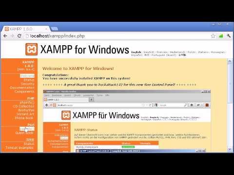 Локальный сервер XAMPP -- установка