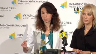 Tetyana Chornovol, Olena Tyshchenko. Ukrainian Сrisis Media Center. June 3, 2014