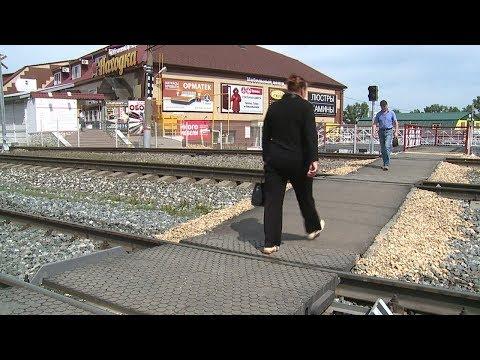 В Саранске после реконструкции открыли пешеходный переход через железную дорогу
