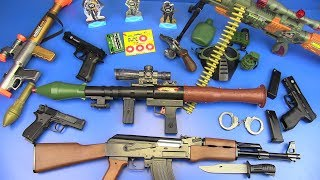 BOX OF TOYS ! RPG Rocket Launcher Toys,AK-47 Military Equipment Guns Toys