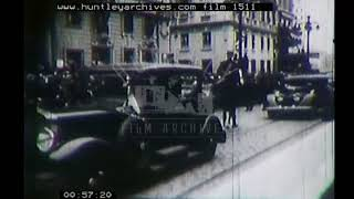 Assassination of the King of Yugoslavia, 1930's. Archive film 1511