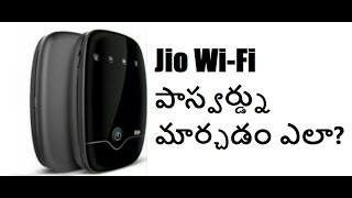 How to Change Password for JioFi2 wifi device-Telugu