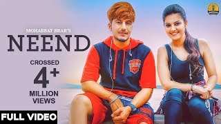 Neend Full Video  Mohabbat Brar  New Punjabi Song