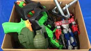 Box of Toys Toy Guns Batman Mask Extreme Toys