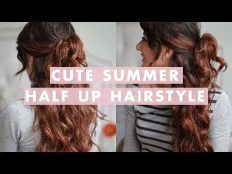 Cute Summer Half Up, Half Down Hairstyle - Nyári frizura