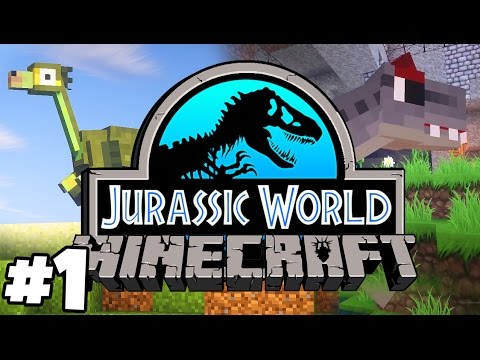 Jurassic World: Minecraft Dinosaurs | SURVIVING THE FIRST NIGHT (Playthrough Part 1)