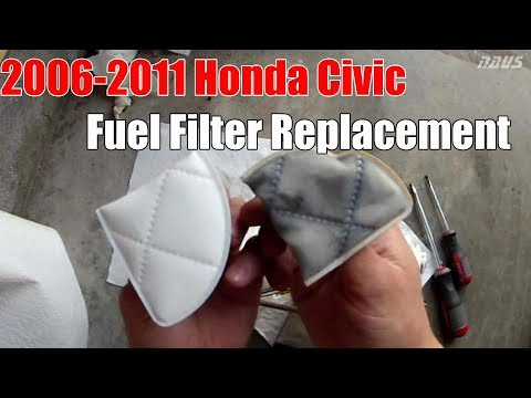 8thgen Honda Civic Fuel Filter Replacement DIY