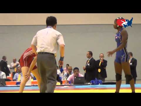 2012 Junior Worlds - FW 44kg Semifinal - Erin Golston (USA) vs. Ilona Semkiv (UKR)