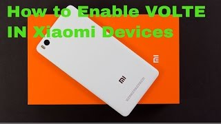 How To Enable Volte In Xiaomi Devices | Mi4i | Redmii | [Hindi]  | 100% Working