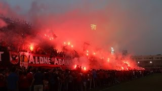 Al-Ahly fans celebrating winning the Super Cup title 18.10.2015