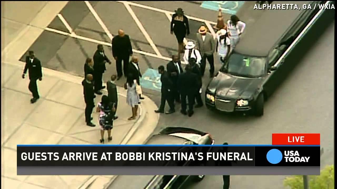Heavy police presence at Bobbi Kristina Brown's funeral