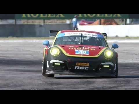 MOMO Racing Team Porsche 911 GT3 Cup Car (991) Driver Henrique Cisneros Talks about Turn 17 at Sebring
