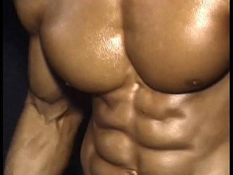 Bodybuilder Hwang Chul-Soon backstage