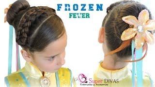 Peinado inspirado en Frozen Fever - Hairdo inspired by Frozen Fever