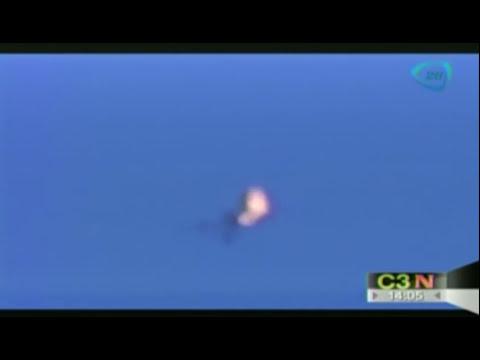 Momento en que se impacta misil ruso en avión de Malaysia Airlines