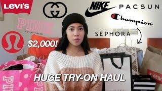 HUGE Try-On Haul! Gucci, Lulu, Pink, Brandy, Champion, etc.