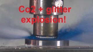 SUPER SLOW MOTION: explosions with hydraulic press