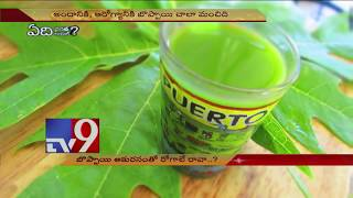 No diseases with papaya leaf juice!