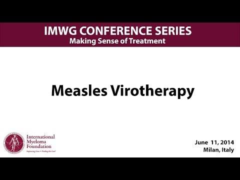 IMWG 2014:  Measles Virotherapy
