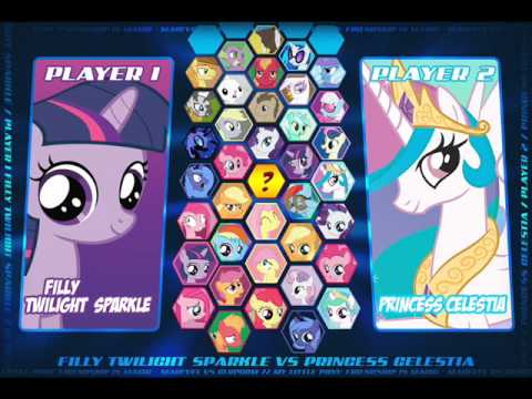 (ultimate horse metal) My Little Pony Fighting Is Magic Character Select *FAKE*