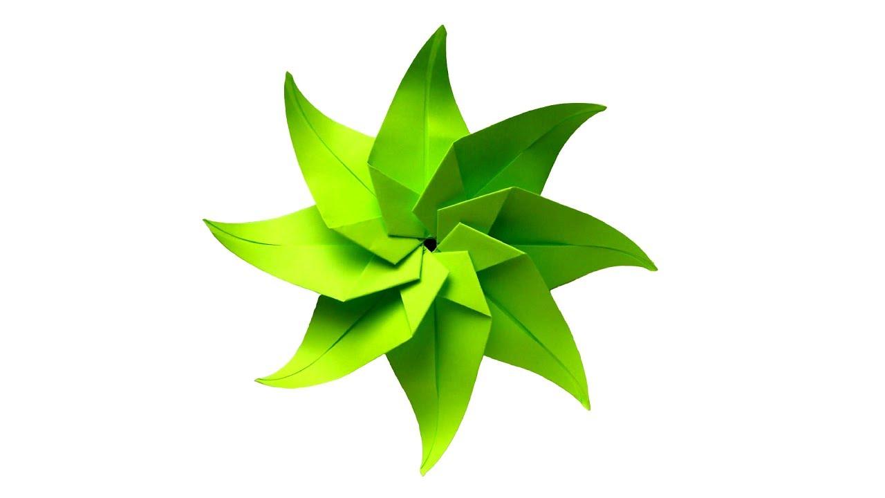 Цветок из бумаги на подарки 676