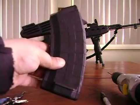 Tapco SKS Pinned 5/20 or 10/20 Round Magazine Disassembly And Reassembly Modification.AVI