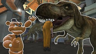 SURVIVING THE T-REX AT JURASSIC PARK! - Garry's Mod Gameplay - Gmod Dinosaur Survival Mod
