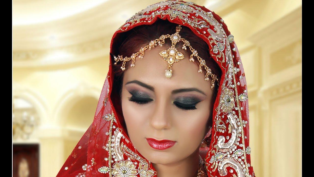 Wedding Makeup Tutorial Asian : Black Smokey Eye Indian Bridal Makeup Tutorial for Asian ...