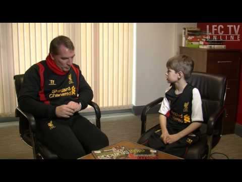 Brendan Rodgers grilled by 9-year-old