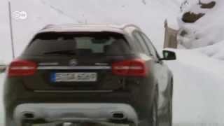 على الثلوج بسيارة مرسيدس GLA رباعية الدفع | عالم السرعة