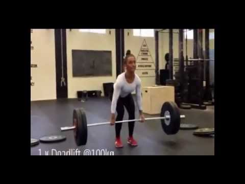 17 year old- girl out lifting guys twice her size