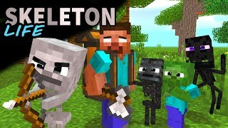 Monster School : Enderman's Life Part 4 with SKELETON's Life - BEST Minecraft Animation