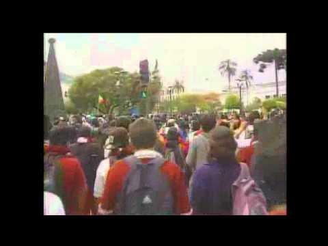 Estudiantes protestan por el bachillerato unificado