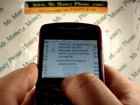 HARD RESET your Blackberry Curve 8310 DATA Wipe (RESTORE to FACTORY condition)