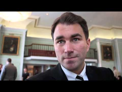 EDDIE HEARN TALKS SIGNING OF JAMES DeGALE AND POTENTIAL FIGHT WITH WINNER OF FROCH v GROVES.
