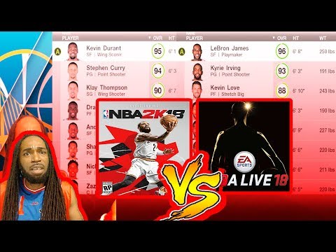 NBA 2K18 VS NBA LIVE 18 | WHO HAVE THE BEST PLAYER OVERALL RATINGS??