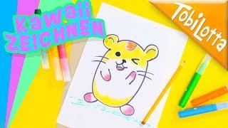 Kawaii Zeichnen - Hamster malen Tiere zeichnen für anfänger lernen Kinderkanal Kinderfilme 153