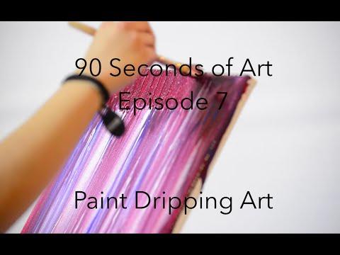 Paint Dripping Canvas Art - Modern Room