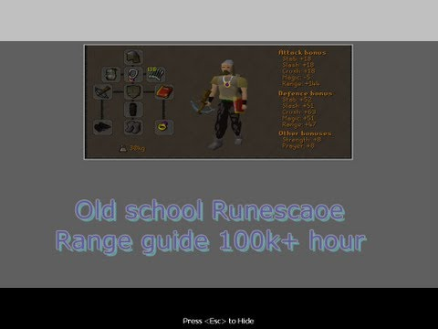 Old school Range guide Runescape