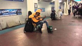 Subway Performer Stuns Crowd With Fleetwood Mac 39 S 34 Landslide 34 Chicago Il Blue Line Washington S