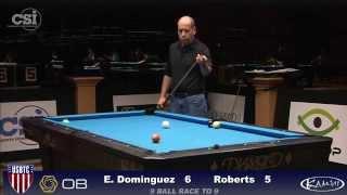 2015 USBTC 9-Ball: Ernesto Dominguez vs Josh Roberts