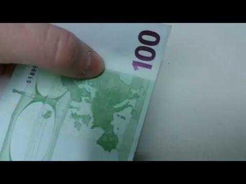Видео как проверить 500 евро на подлинность