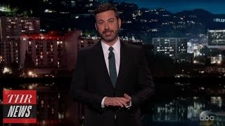 Jimmy Kimmel Tears Into United Airlines for Dragging Passenger Off Flight | THR News