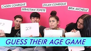 Dylan and Caden vs. Sebastian and Bria - Guess Their Age