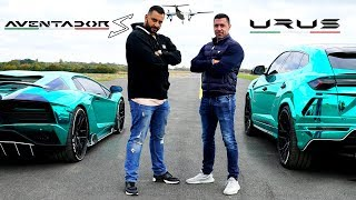 Aventador S vs Urus - DRAG RACE