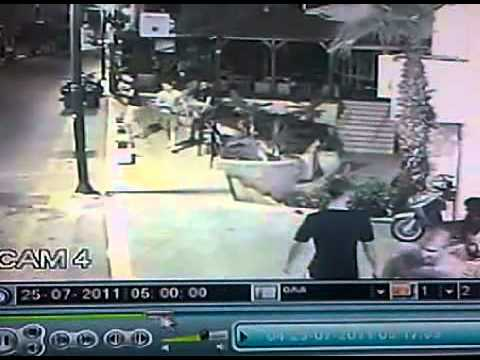 Malia CCTV Knife Attack 2011