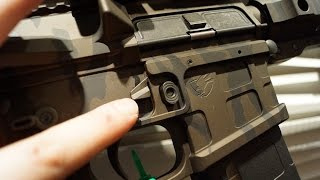 American Defense Manufacturing SHOT Show 2015 Booth Tour AR 15 Ambi Lower