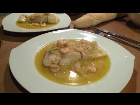 Receta de pescado en salsa verde ( Para merluza, perca, mero y otros pescados blancos )
