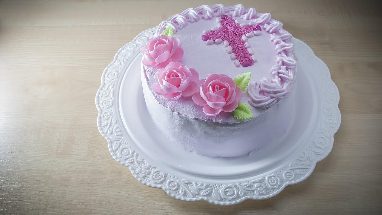 Украшаем торт на крестины своими руками